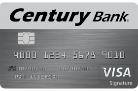 Century Bank of Massachusetts Visa Real Rewards Credit Card