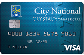 City National Bank Visa Crystal Commercial Credit Card