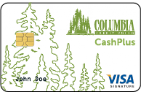 Columbia Credit Union Visa Signature CashPlus Credit Card
