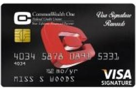 CommonWealth One FCU Credit Card Visa Signature Rewards