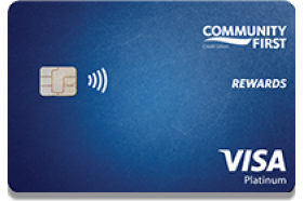 Community First Credit Union of Florida Visa Platinum Rewards Credit Card