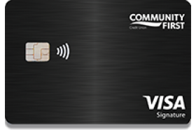 Community First Credit Union of Florida Visa Signature Credit Card