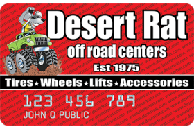 Desert Rat Off Road Centers Credit Card