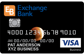 Exchange Bank of California Business Card