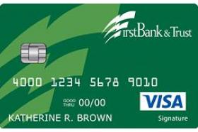 First Bank and Trust of Texas Cash Back Rewards Visa