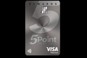 FivePoint Credit Union Platinum Rewards Visa Credit Card