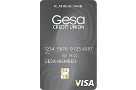 Gesa Credit Union Share Secured Platinum Card