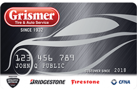 Grismer Tire and Auto Service Credit Card