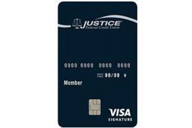 Justice Federal Credit Union VISA Signature Credit Card