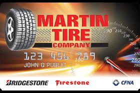Martin Tire Company Credit Card