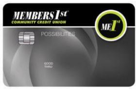 MEMBERS1st Community Credit Union VISA Possibilities Credit Card