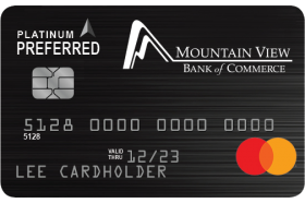Mountain View Bank of Commerce MasterCard Business Platinum Preferred Credit Card