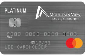 Mountain View Bank of Commerce MasterCard Platinum Credit Card