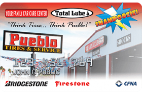 Pueblo Tires and Service Credit Card
