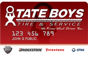 Tate Boys Tire and Service Credit Card