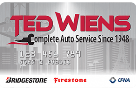 Ted Wiens Complete Auto Service Credit Card